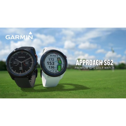 Garmin Approach S62 GOLF Smart Watch With Built in Heart Rate (*Free Screen Protector+Update Latest Golf Courses) *Original Set warranty By AECO Garmin Malaysia