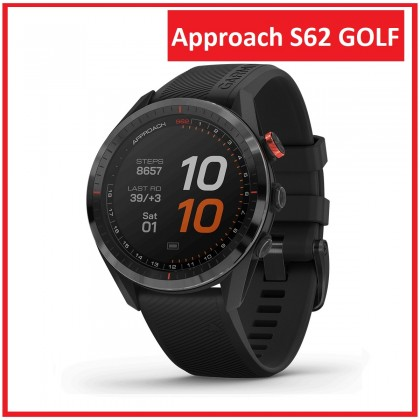 Garmin Approach S62 GOLF Smart Watch With Built in Heart Rate (*Free Power Bank+Update Latest Golf Courses) *Original Set warranty By AECO Garmin Malaysia