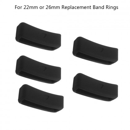 22mm 26mm Soft Silicone Rings for Garmin Fenix 6 6s 6 pro/ Fenix 5 5X Plus/Fenix 3/3 HR Replacement Band Loops,Band Ring