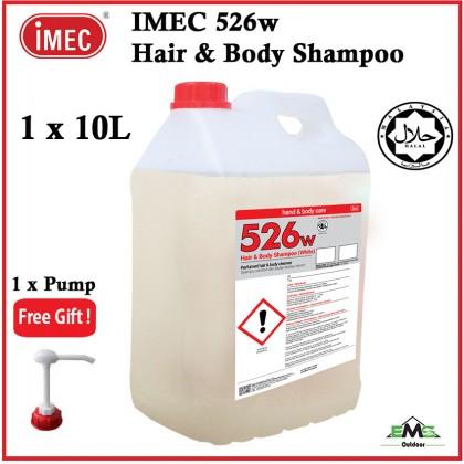 * IMEC 526W Hair & Body Shampoo,Perfumed Hair & Body Shampoo (*1 Bottles x 10L)+Free Pump