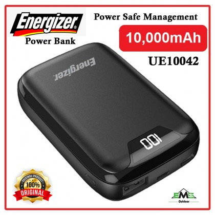 ENERGIZER UE10042 10000mAh Type-C Fast Charge Power Bank Dual Outputs with LCD Display (*Original Set))