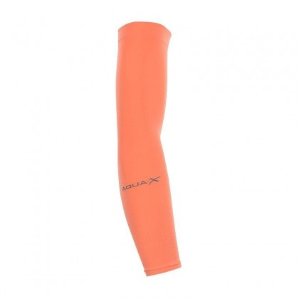 AQUA-X / 1pair Cooling Sport Skins COOL ARM Sleeves Sun Protective UV Cover Golf / cool arm sleeves UV Protection-Orange