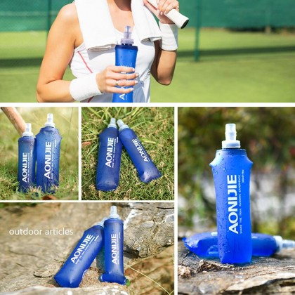 AONIJIE Sports Foldable BPA PVC Free Soft Running Water Kettle Soft Hiking Flask Hydration Bottle 250ml