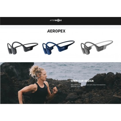 AfterShokz Aeropex AS800 Fully Sweat and IP67 Waterproof Open Ear Wireless Bone Conduction Sports Headphones (* 100% Authentic) Free Gift !!