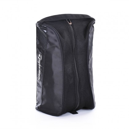 TaylorMade Shoe Bag (Black) Simple Design with Zip