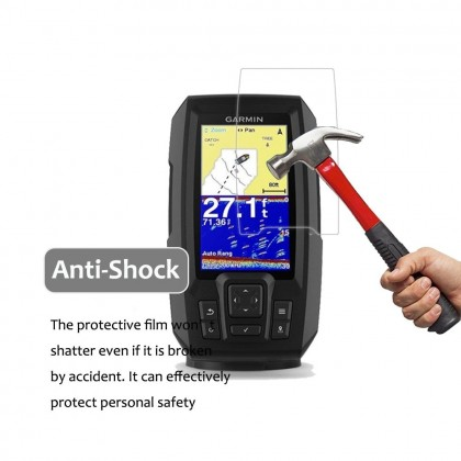 Clear LCD Screen Protector for Garmin Striker Vivid 4CV Fish Finder (*Anti-Scratch) Fit Screen Size